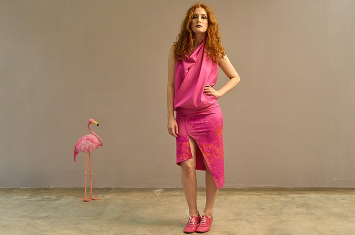 2017-pink-kleid-druck-punk-barbie-mode-design-Taf Woman02145