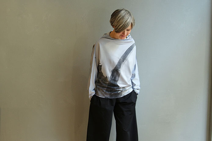 bea,taf-woman,leipzig,milo,shirt,grey,art,painting,anett franke,IMG_1651_1
